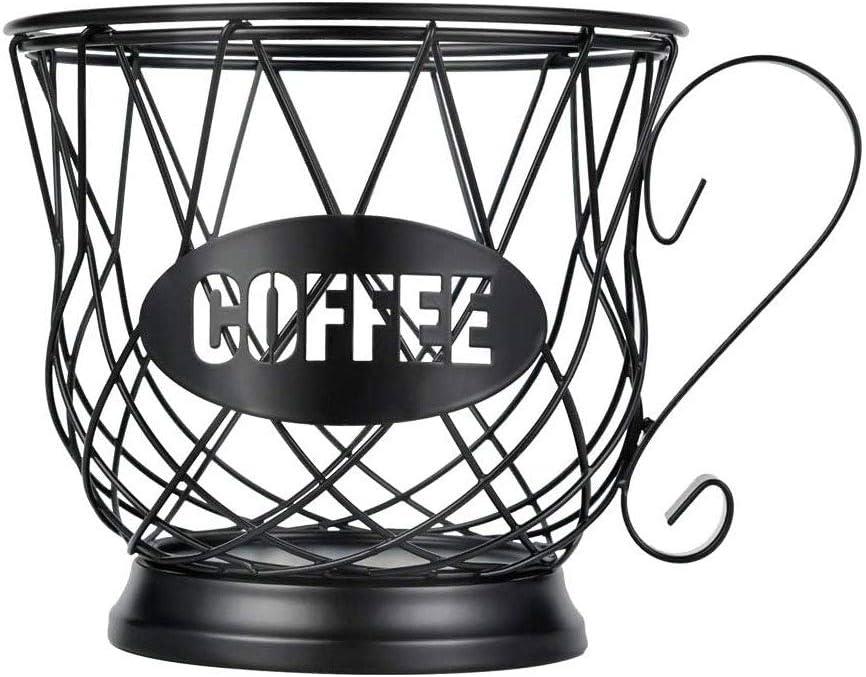 Black Coffee Pod Storage Cup AOZBZ Coffee Pod Holder Coffee Pod Organizer K Cup Coffee Storage Basket for Home Cafe Hotel