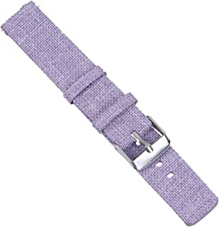 NICERIO Compatible for Mi Watch, Watch Band - Wrist Replacing Strap Canvas Wristband Watchband Simple Watchstrap Alternati...