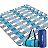 Hivernou Outdoor Picnic Blanket, Waterproof Extra Large Picnic Mat with 3 Layers Material, Portable Outdoor Blanket with Waterproof Backing for Camping Beach Park Family Concerts Fireworks