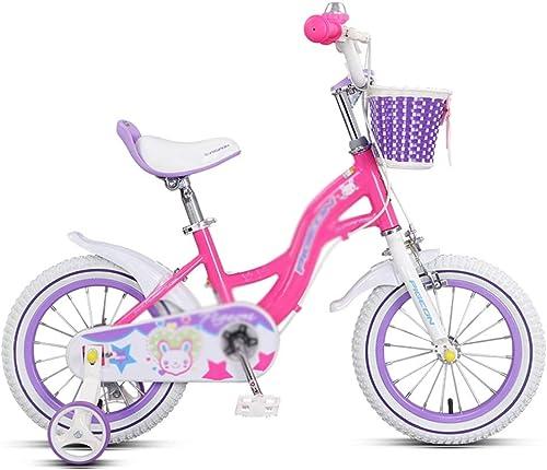 Kinderfürr r Mountainbike-Jungenfürrad einzelnen Geschwindigkeit Kohlenstoffstahlrahmen, passend für Kinder 3-10 Jahre alt (Farbe   lila, Größe   16inches)