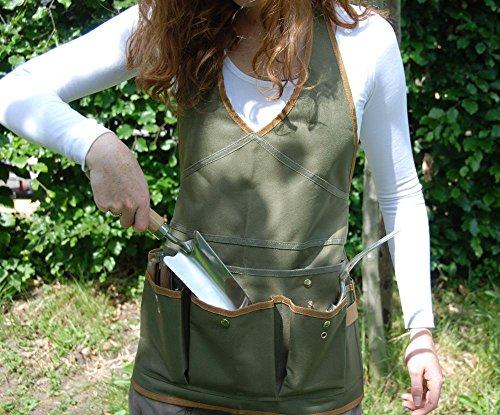 Esschert Design Damenschürze, Gartenschürze mit Taschen, ca. 68 cm x 1 cm x 64 cm - 3