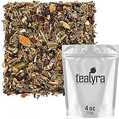 Tealyra - Calm Down - Nirvana - Chamomile Ginger Hibiscus - Wellness and Relaxing Herbal Loose Leaf Tea - Detox Tea - Caffeine-Free - All Natural - 110g (4-ounce) by Tealyra