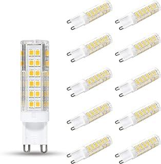 10er Pack G9 LED Lampen Warmweiß 3000K, 7W 680 Lumen Ersatz für 60W 65W 70W Halogenlampen, CRI>82, 360° Abstrahlwinkel, Ni...