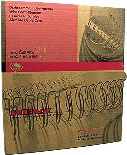 Renz Wire Comb Binding Elements 34Loops 3: 1Diameter 14.3mm, 9/16Inch 14.3 mm Black