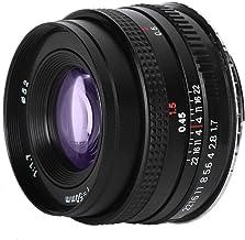 Camera Lens, 50mm F1.7 EF Mount Standard Lens Large Aperture Lens for Canon SLR Camera