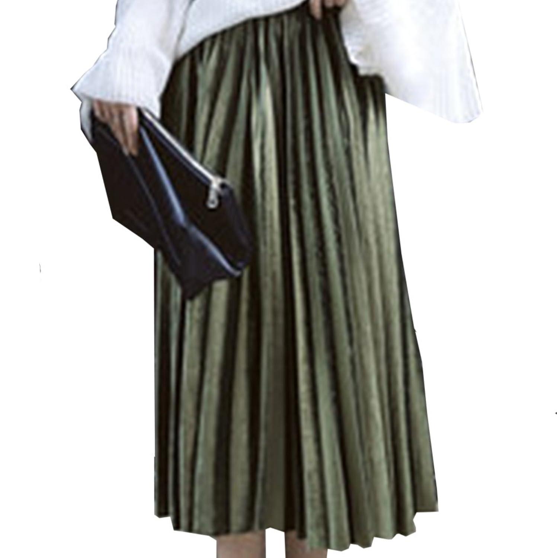 [美しいです] レディース スカート ハイウエスト プリーツスカート スリム 春 夏 秋 冬 就活 通勤 ロング
