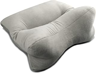 Original Bones 64301 OrthoBone Pillow in Velour, Grey; Resilient and Hypoallergenic Polyester Filling; 15