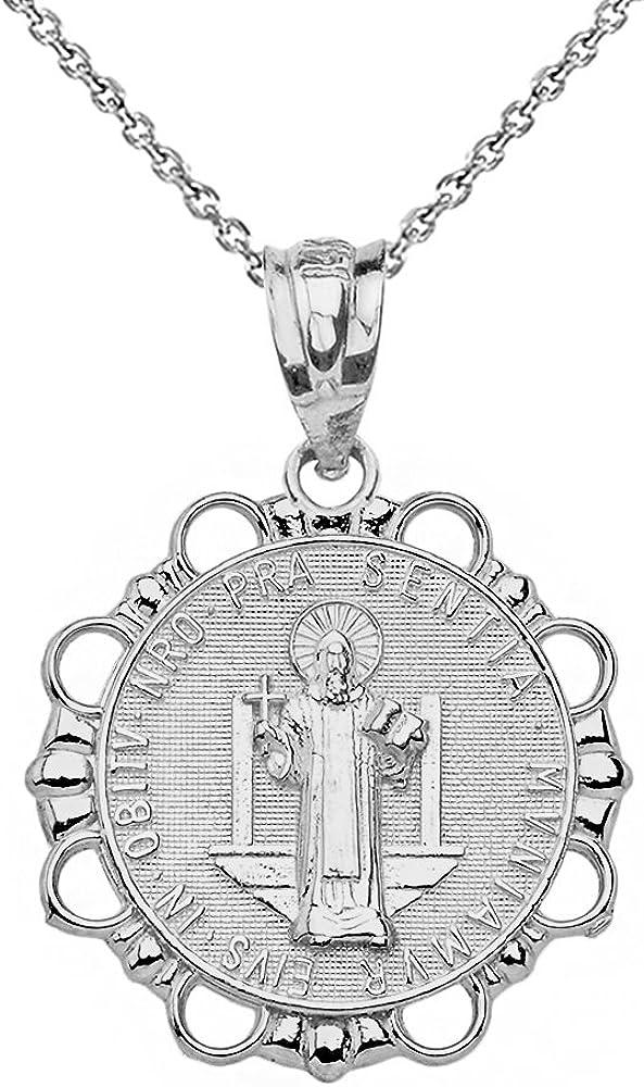Beauty products Sterling Silver Medalla De San Benito Benedict St Wholesale Ne Round Saint
