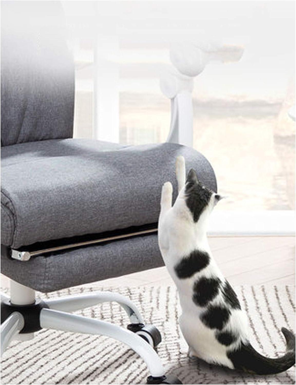 Ordinateur Chaise de Bureau Chaise Patron Président Fauteuil de Jeu Fauteuil Inclinable Tissu Fauteuil pivotant Tabouret Chaise de Bureau Simple Ménage Grey Grey