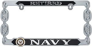 Elektroplate Retired Navy 3D License Plate Frame