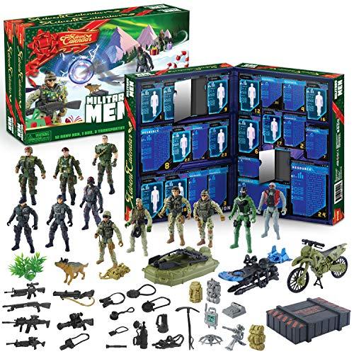JOYIN 2020 Advent Calendar Kids Christmas 24 Days Countdown Calendar Toys for Kids with Military Army Man