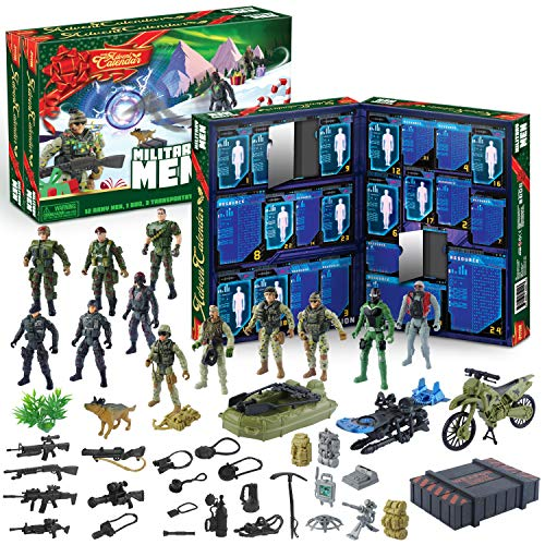 JOYIN 2020 Advent Calendar Kids Christmas 24 Days Countdown Calendar Toys for Kids with Military Army Man