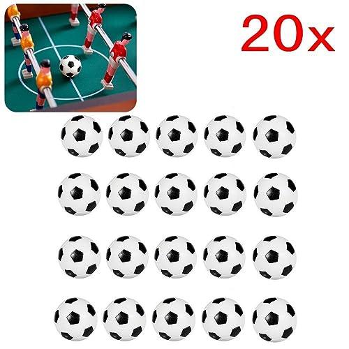 JZK 20PCS 32mm Balles de Table Baby Foot en Plastique Accessoires Table Football pour des Enfants et des Adultes faveurs de fête d'anniversaire, remplisseurs de Sac de Partie