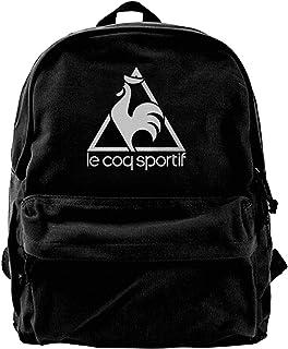 Mochila de lona Le Coq Sportif Logo Mochila para gimnasio, senderismo, portátil, bolsa de hombro para hombres y mujeres