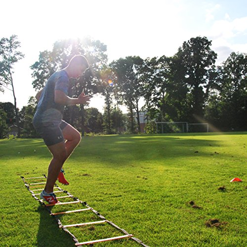 Scandinavian Sports Agility Ladder - 12 Adjustable Rungs 20 Feet - Agility & Speed Training Kit - Quickness Training Equipment for Faster Footwork and Better Movement Skills