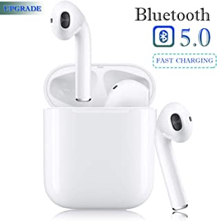 $39 » Bluetooth 5.0 Wireless Earbuds Headsets Bluetooth Headphones 【24Hrs Charging Case】 3D Stereo IPX5 Waterproof Pop-ups Auto Pairing Fast Charging for Earphone Samsung Apple Airpods Sport Earbuds