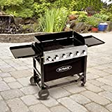 Outback Party 6 Burner Flatbed Gas BBQ Grill with Hose & Regulator