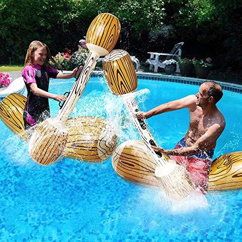 Binhe 4 piezas de piscina hinchables para 2 jugadores, adultos y niños, para verano, fiestas de deportes acuáticos, juguetes flotantes (57 x 14 pulgadas)