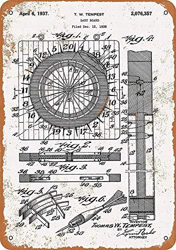 Hunnry Dart Board Poster Metall Blechschilder Retro Dekoration Schild Aluminium Blechwaren Vintage Wandkunstplakat Zum Cafe Bar Wohnzimmer Zuhause