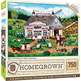 Local country store puzzle 750 pieces in finished 18 inch x 24 inch puzzle Read about artist Cindy Mangutz & collect the series MasterPieces - an American puzzle & game company. We stand behind our products and guarantee your satisfaction Thick recyc...