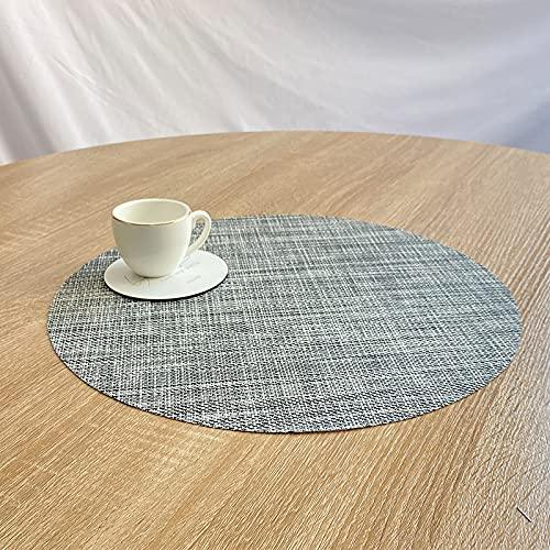 CNYG Posavasos antideslizantes resistentes al calor decorativos para el hogar, posavasos redondos para cuencos, tazas, vasos, vasos y regalos para amigos, color gris 35 cm