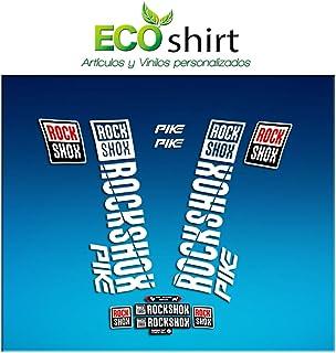 Ecoshirt CW-R2RT-90WP Stickers Fork Rock Shox Pike 2018 Am177 Aufkleber Decals Autocollants Adesivi Forcela, White