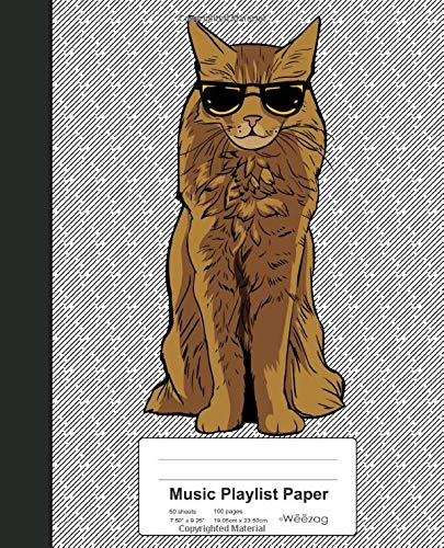 Music Playlist Paper: Book Somali Cat (Weezag Music Playlist Paper Notebook, Band 270)