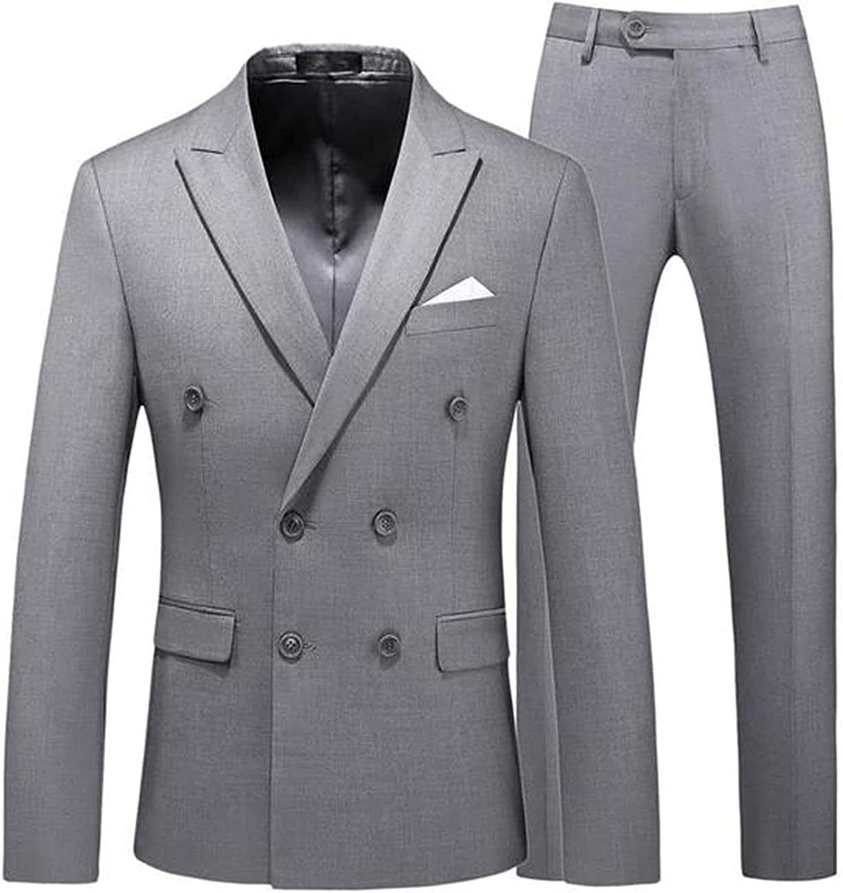 Store werp Men's Suit 2 Piece Solid Double Breasted Ja Tuxedo ! Super beauty product restock quality top! Slim Fit