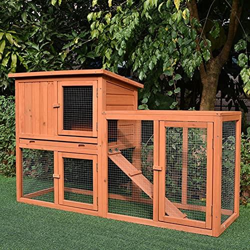 Cage à Lapins extérieure Double Couche poulailler en...