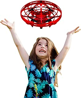 Gifts for Teen Boys, ZJQY Hand Operated Helicopter Flying Ball Drones for Kids or Adults Toys Gifts for 3-12 Year Old Boys Girls Birthday Present Red