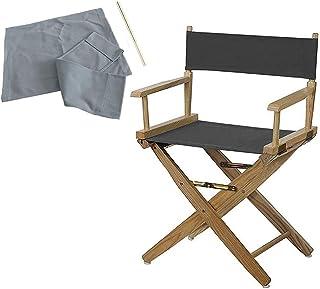 の椅子カバーディレクターチェアプラス太い交換キャンバスシートやディレクターチェア用バックコットンアウトドアプロップチェアカバーキャンバススツールカバー(グレー)