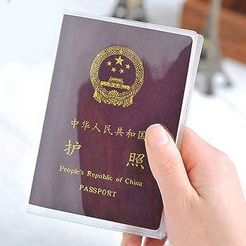 Beautylife /& # X24/C7; 2/x Fashion trasparenti porta passaporto copertura custodia da viaggio Portafoglio Protector cartella