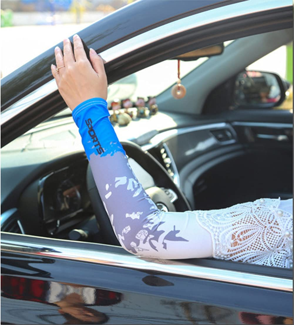 2 Pairs Unisex Ice Silk Sunscreen Outdoor Thin Stretch Riding Gloves (Black)