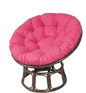 NYZXH Cojines de Silla de Canasta Colgante Redondo Color sólido Mimbre Rattan Silla Cojín Show Show Pads Alfombrillas de Asiento de Huevo al Aire Libre 100x100cm (Solo cojín) (Color : Pink)