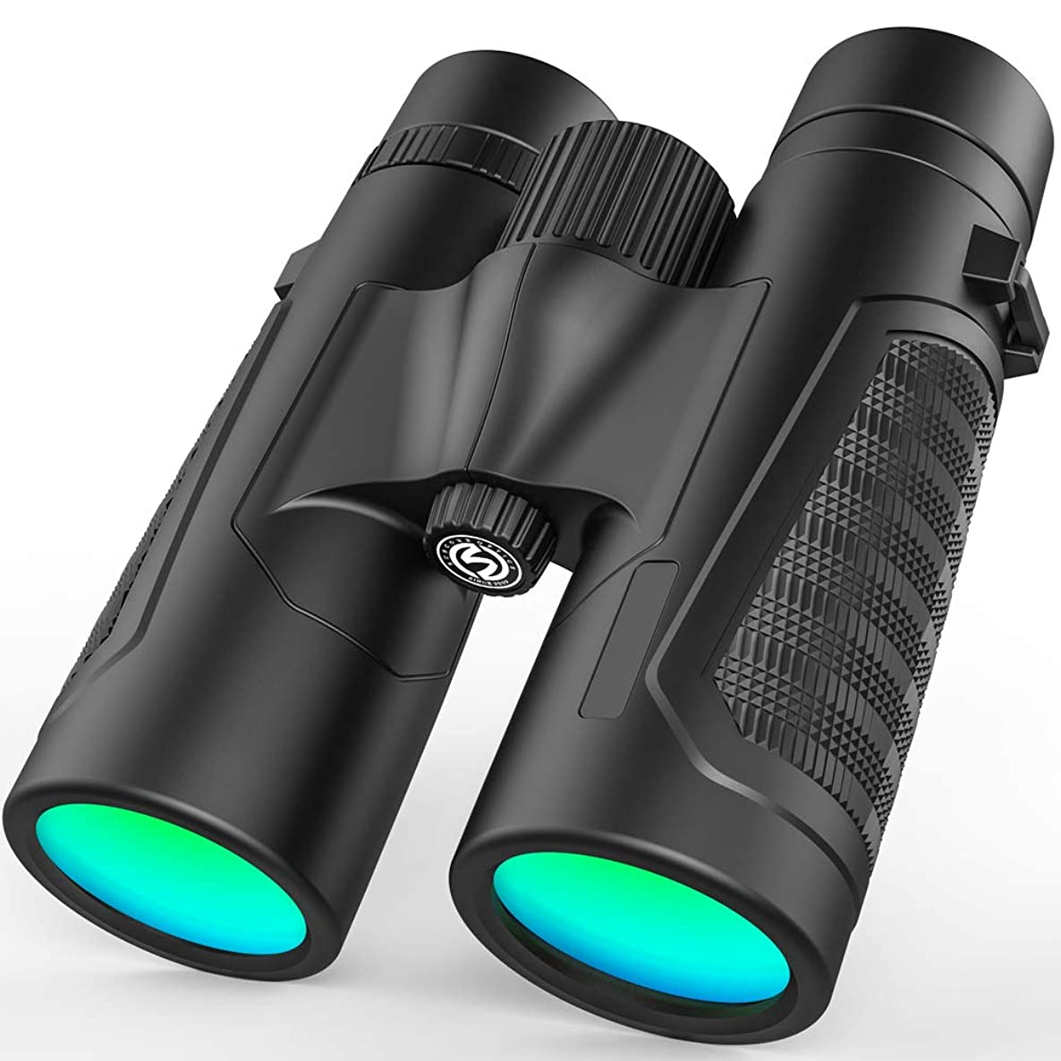 Compact Binoculars for Adults,12x42 Binoculars with Low Light Night Vision - Large Eyepiece High Power Waterproof Binocular Easy Focus for Bird Watching,Hunting,Traveling and Sightseeing
