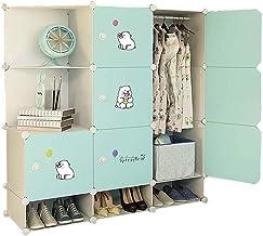 Portable Wardrobe Portable Closet Clothes Wardrobe Depth Bedroom Armoire Modular Storage Organizer with Doors Clothing Sto...