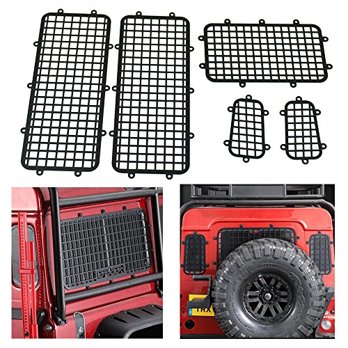 Benedict 1/10 RC Metal Window Protective Mesh Net for 1/10 TRX4 Land Rover Guard Rock Crawlers