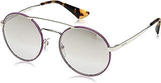 نظارة شمسية للنساء 0Pr51Ss Vhv1A0 54 من برادا - لون فضي/ بنفسجي/ رمادي فاتح عاكس متدرج واطار فضي