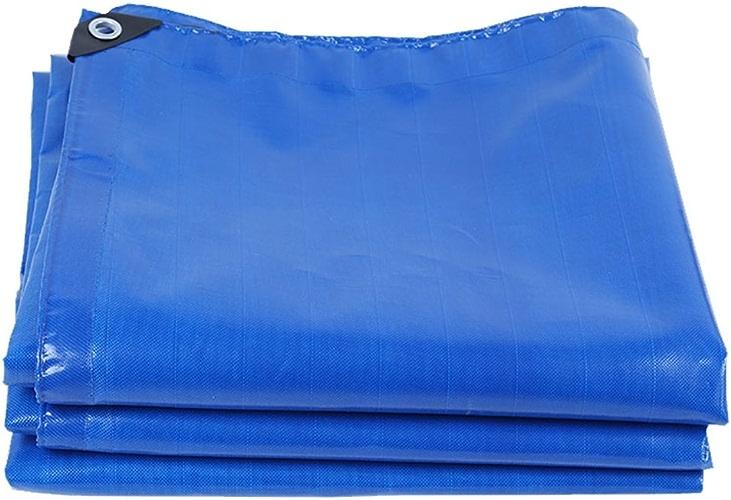 YUJIE Bache De Qualité Supérieure, Polyéthylène Tissé Haute Densité Et Double Stratifié - 180 G   M2, Bleu - 100% étanche Et Résistant Aux UV