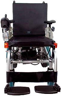 Mobiclinic, modelo Orión, Silla de ruedas eléctrica, plegable, acero, con motor, para discapacitados, minusválidos, ancianos, ortopedica, para mayores, autonomía 30 km, 24V, color Azul y Negro