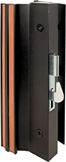 Prime-Line Products C 1001 Sliding Glass Door Handle Set, 4-15/16 in., Extruded Aluminum, Black, Hook Style, Surface Mount