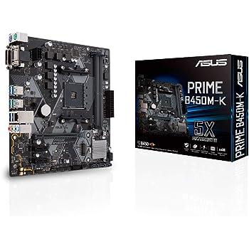 ASUS AMD B450 搭載 AM4 対応 マザーボード PRIME B450M-K 【MicroATX】【 第3世代 AMD Ryzen CPU に対応】
