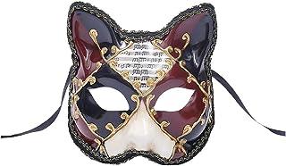 Unisex Masquerade Mask Phantom Of The Opera Cat Face Vintage Venetian Greek Roman Mardi Gras Party Face for Halloween Christmas Party Mask Zhhlaixing