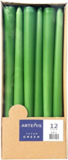 Artemis Unscented Green Taper Candle