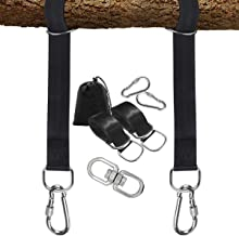 PLRB TOYS Tree Swing Hanging Straps, 2 x 10ft Long Straps with Safer Lock Snap Carabiner Hooks for Tree Swing & Hammocks, Perfect for Swings