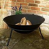 Antikas - Feuerschale 60 cm, Schale für Feuer, tiefe große Eisenschale, Outdoor u Lounge