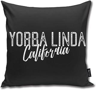 XCNGG Funda de Almohada Funda de cojín de Almohada para el hogar Ropa de Cama Yorba Linda California Household Sofa Car Cushion Cover Double Side Bed Pillowcase 45cm 45cm