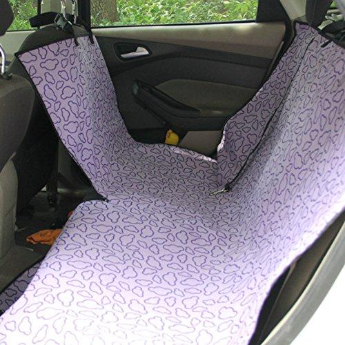 Seat étanche Car Cover Pet Dog Mat Voyage pour Rear Seat, Violet Cloud (Simple)