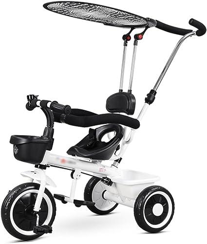 elige tu favorito Triciclos Trolley de la Carretilla de los los los Niños con Visera 1-2-3-5 años de Edad Pedal de la Bicicleta del Niño del Niño Trike Kids 3 Ruedas ( Color   blanco )  marcas en línea venta barata