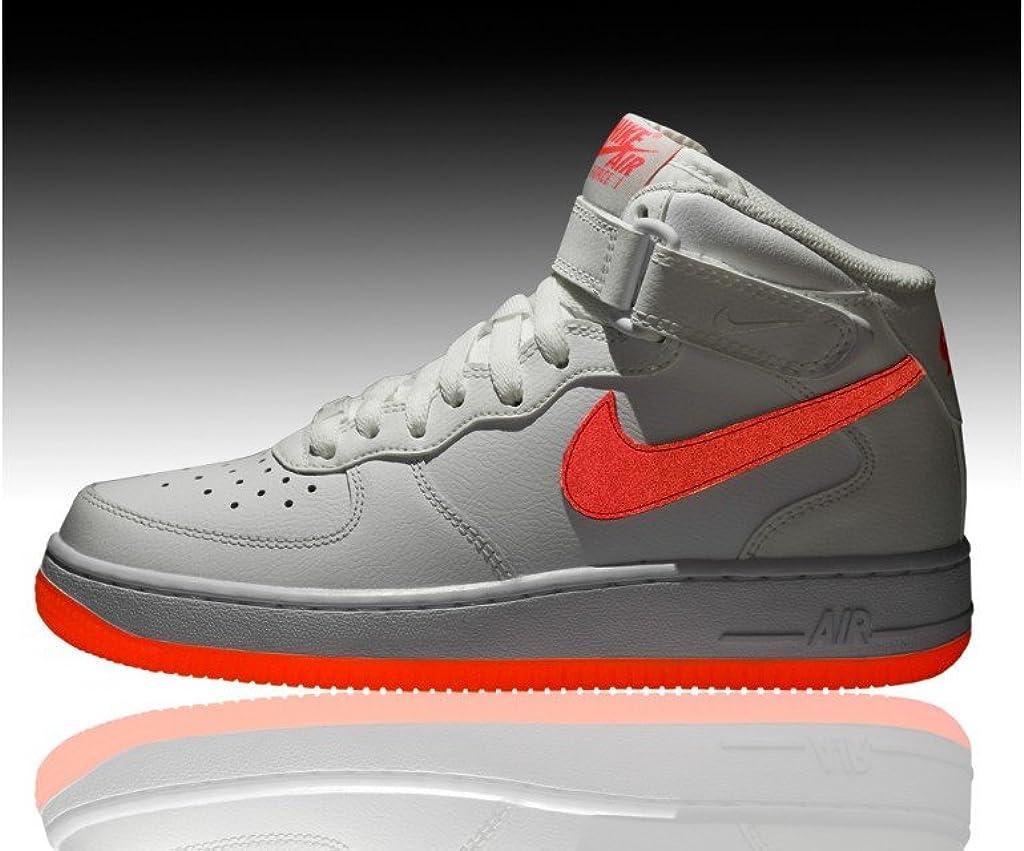 Nike Air Force 1 Mid Bianco Baffo Rosa : Amazon.it: Moda